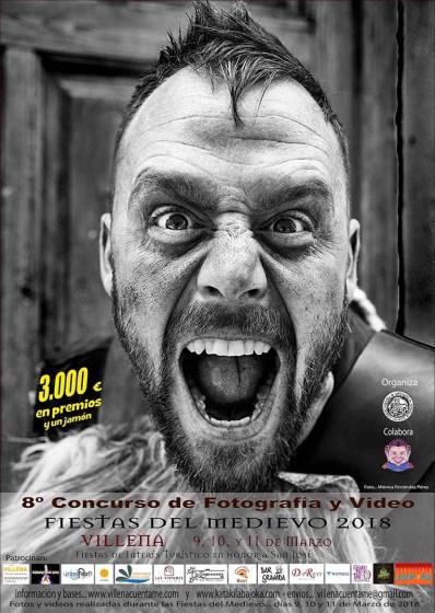 Cartel Concurso de Fotografía y Vídeo de las Fiestas del Medioevo de Villena