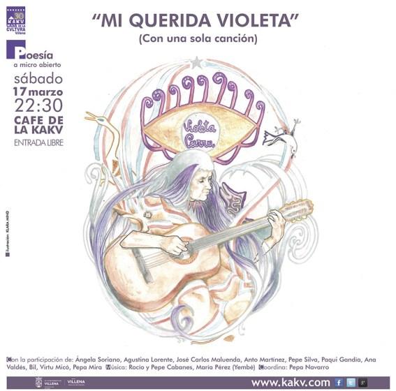 """Cartel Micro Abierto """"Mi querida violeta"""""""