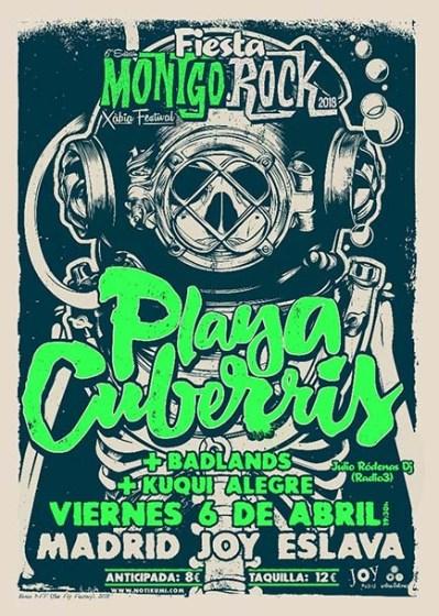 Cartel fiesta de presentación de Montgorock Xàbia Festival