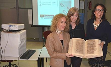 Manuscritos centenarios vuelven al Archivo Municipal de Alicante luego de su restauración