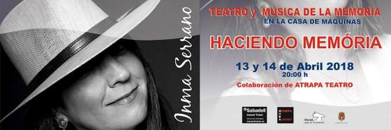 Cartel concierto Inma Serrano