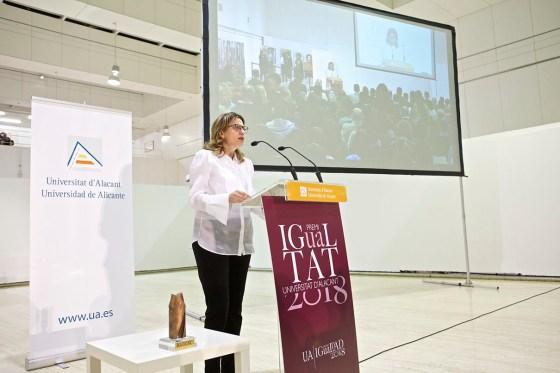 María José Rodríguez, vicerrectora de Responsabilidad Social Inclusión e IgualdadUA. Foto: UA