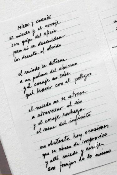 """Poema """"Miedo y coraje"""" Mario Benedetti"""