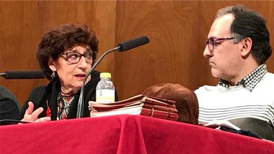 """Olvido García Valdés y Javier Cebrián en el Ciclo """"La dignidad de la palabra"""". Fotos: Carmen Dueñas"""