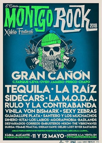 Cartel Montgorock Xàbia Festival