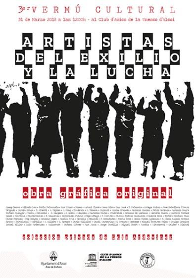 Cartel Artistas en el exilio y la Lucha