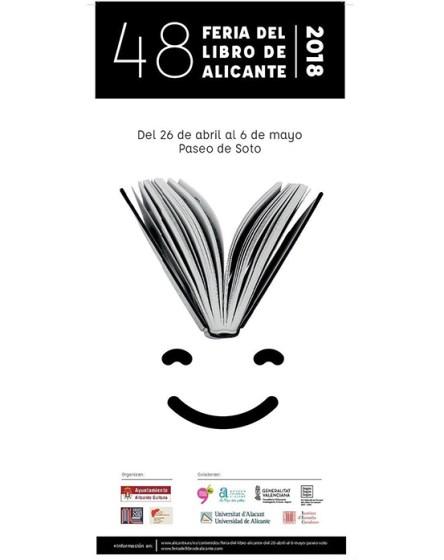 Uno de los carteles de la Feria del Libro de Alicante 2018