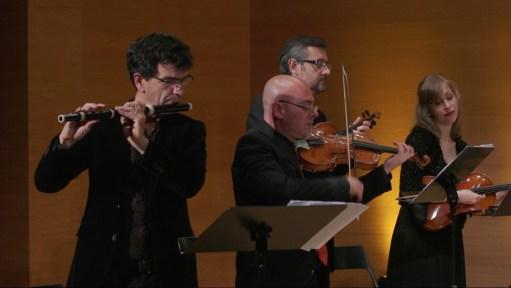 Pepe Vera traverso y Eduardo Fenoll concertino. Foto: Line Design Studios