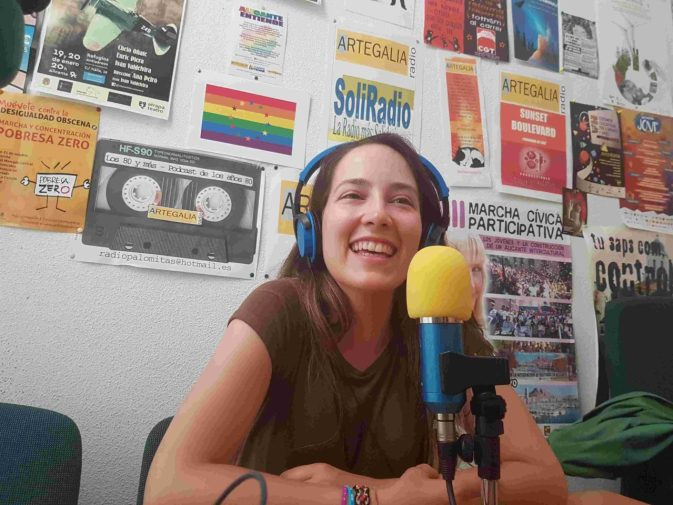 Ágora Reix en Radio Artegalia. Foto: Juanjo Cervetto