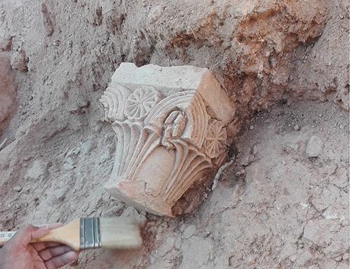 El Capitel de Ifach en el momento de su descubrimiento en 2016. Archivo gráfico MARQ