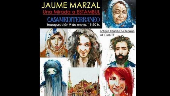 """El artista Jaume Marzal expone """"Una mirada a Estambul"""" en la Casa Mediterráneo en Alicante"""