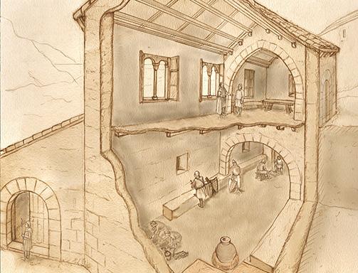 Reconstrucción de la Domus Llúria. Archivo gráfico MARQ.