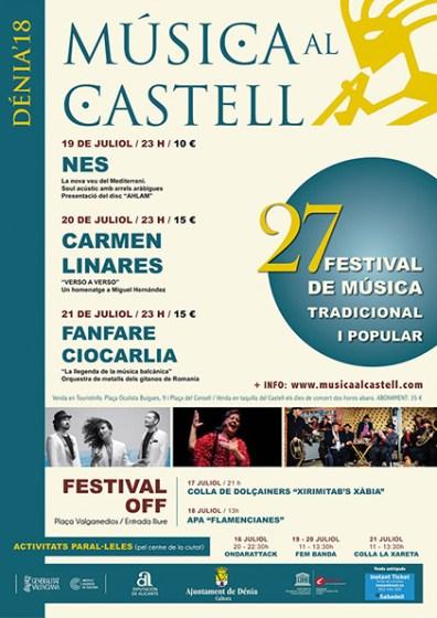 """Cartel """"Música al Castell"""" en Denia"""