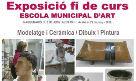 El alumnado de la Escuela Municipal de Arte de Callosa d'En Sarrià expondrán sus trabajos  a partir del 8 de junio