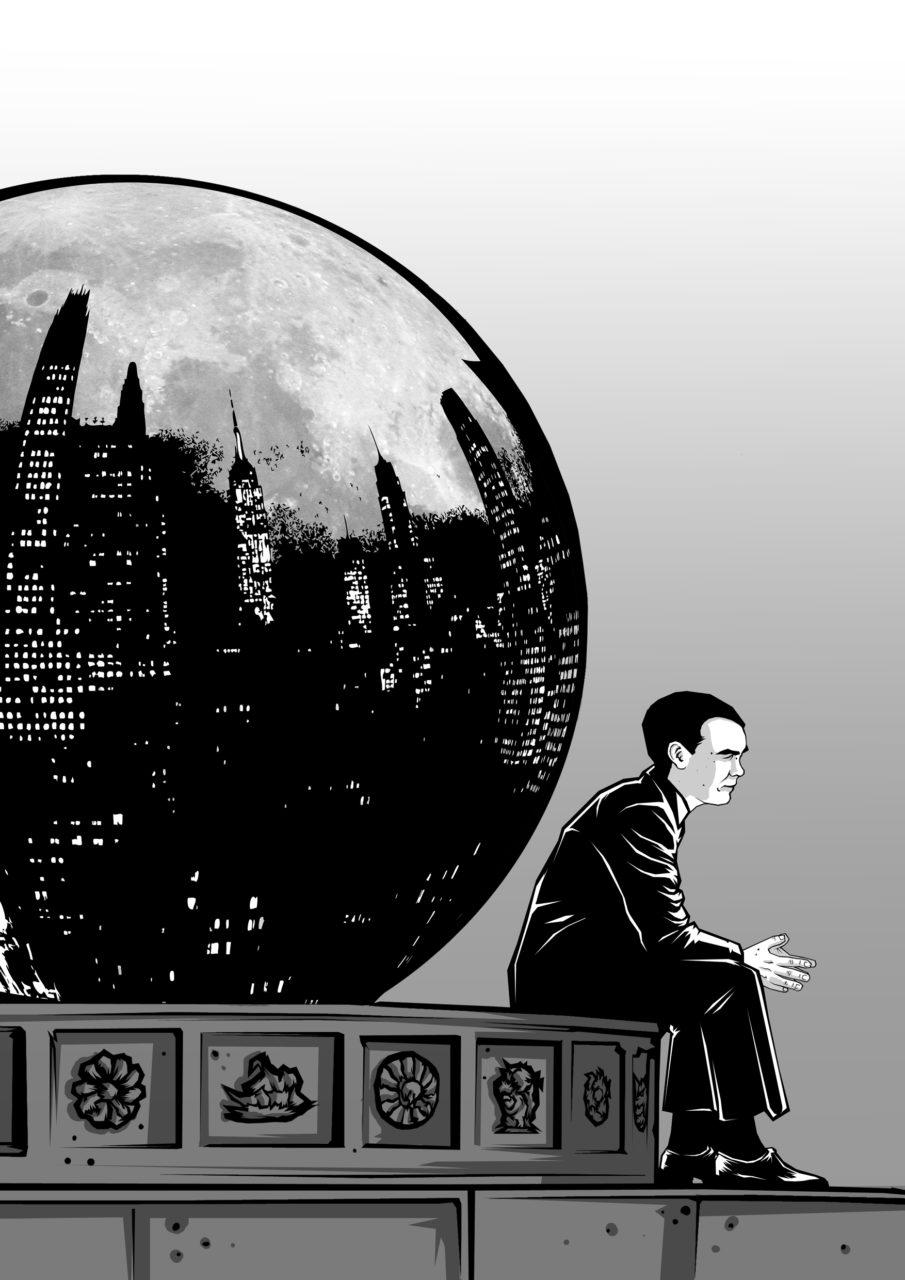 Il·lustració de Carlos Esquembre, portada de la Antologia