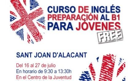 Sant Joan d'Alacant organiza un curso gratuito de inglés de preparación al B1