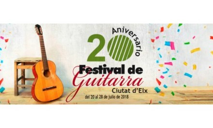 """El Festival de Guitarra """"Ciutat d'Elx"""" celebra el seu  20 aniversari"""