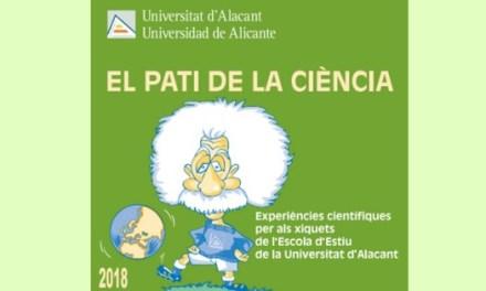 Experimentos científicos para los más pequeños en el «Pati de la Ciència» de la UA