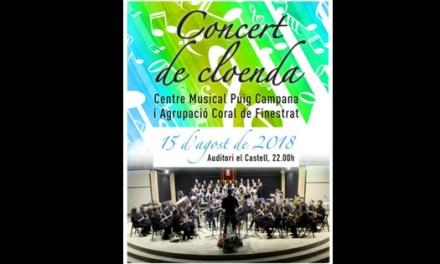 """Aquest dimecres finalitza """"Sensacions d'Estiu"""" amb el concert de el """"Centre Musical Puig Campana"""" i l'Agrupació Coral de Finestrat"""