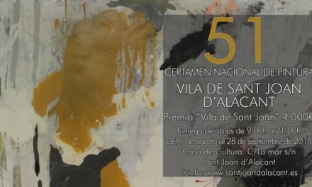 51º Certamen Nacional de Pintura Vila de Sant Joan  d'Alacant 2018