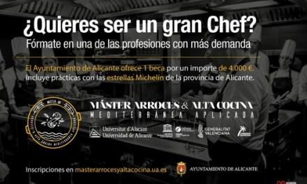 Una beca de 4.000 euros per a investigar en el Màster Arrossos i Alta Cuina Mediterrània Aplicada proposta per l'Ajuntament d'Alacant