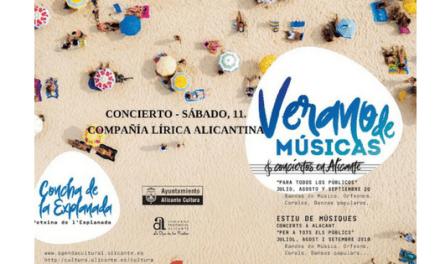 Concierto gratuito de la Compañía Lírica Alicantina en el auditorio de la Concha con canciones de zarzuelas