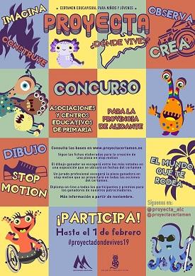 """Comença la III Edició de """"Proyecta"""" amb el llançament dels concursos per als centres educatius de la província d'Alacant"""