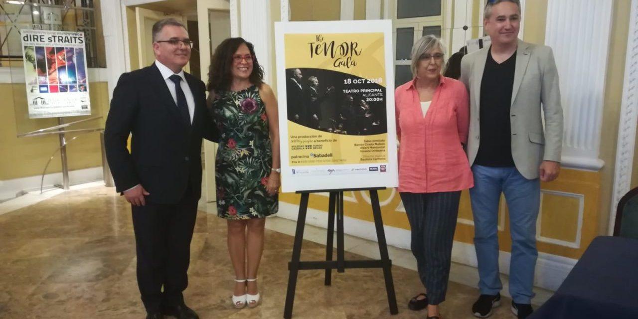 """El Banco Sabadell patrocina, con la colaboración del Ayuntamiento de Alicante, """"The Tenor Gala"""" a beneficio del Fondo de Becas Soledad Cazorla Prieto"""