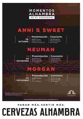 """Anni B Sweet  en directo en Alicante con """"Momentos Alhambra en el Escenario"""" al Teatro Principal"""