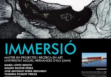 """Inauguración en el MUA de la exposición """"Inmersión"""": arte contemporáneo vivo y actual"""