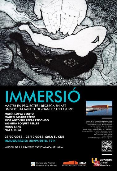 Inauguración en el MUA de la exposición «Inmersión»: arte contemporáneo vivo y actual