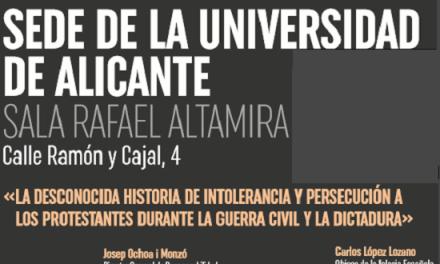 Andrés Rodríguez presenta la seua novel·la «La memoria robada» en la Seu Ciutat d'Alacant