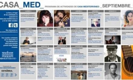 La música y la literatura protagonizan las actividades de septiembre de Casa Mediterráneo