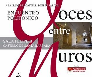 """Cultura d'Alacant presenta el programa """"A la Llum del Castell, Sons de Tardor– Sons de Nadal"""""""