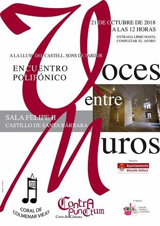 Cultura de Alicante presenta el programa «A la Llum del Castell, Sons de Tardor– Sons de Nadal»