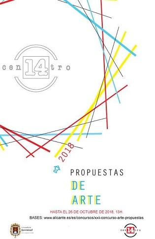 """La Regidoria de Joventut d'Alacant convoca el XXII Concurs d'Art """"Propuestas"""" per a fomentar la creació de joves artistes"""