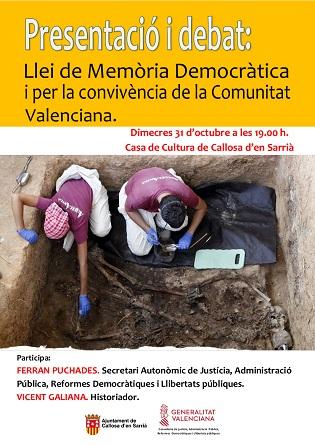 Callosa d'en Sarrià transmite valores de convivencia a través de un proyecto sobre la memoria histórica y democrática
