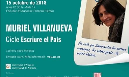 Muriel Villanueva inicia el ciclo «Escriure El País» en la Universidad de Alicante
