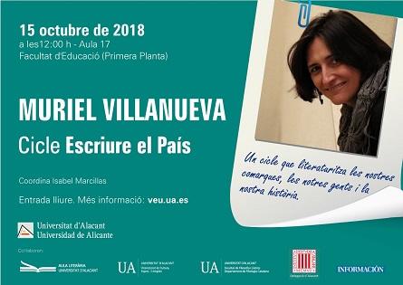 """Muriel Villanueva inicia el cicle """"Escriure El País"""" a la Universitat d'Alacant"""