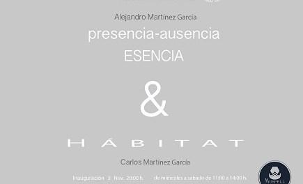 Exposició «presencia-absència. Essència & HABITAT» d'Alejandro i Carlos Martínez en la Galeria ACAS d'Elx