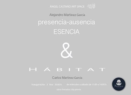 Exposición «presencia-ausencia. Esencia & HABITAT» de Alejandro y Carlos Martínez en la Galería ACAS de Elche