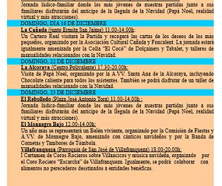 Las Partidas Rurales de Alicante presentan su programa de actividades de Navidad