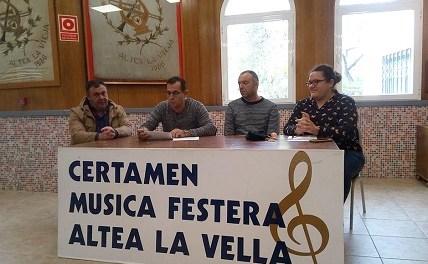 La Recreativa d'Altea la Vella ja coneix les bandes que participaran en el seu Certamen de Música Festera