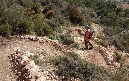 Turisme realitza l'adequació, millora i ampliació de la xarxa de senders de Serra Bèrnia en el terme municipal d'Altea