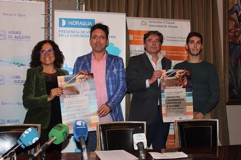 Aguas de Alicante celebra el 120 aniversario con un concierot solidario interpretado por la Orquestra Filharmònica de la Universitat d'Alacant