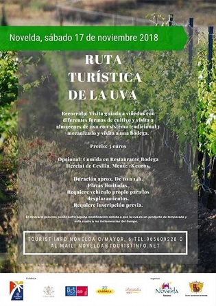 Turismo de Novelda ofrece una nueva Ruta de la Uva