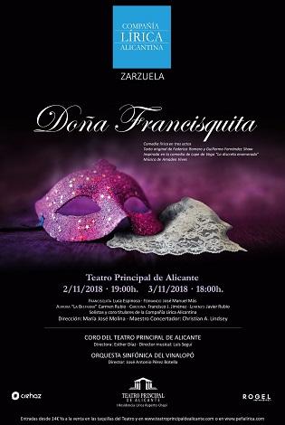 Doña Francisquita dará el do de pecho en el principal este fin de semana