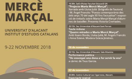 La Universitat d'Alacant i l'Institut d'Estudis Catalans fan un homenatge a Maria Mercè Marçal