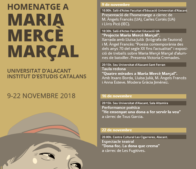 La Universidad de Alicante y el Institut d'Estudis Catalans rinden homenaje a Maria Mercè Marçal