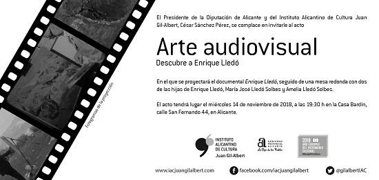 El ciclo 'Arte audiovisual' del Instituto Juan Gil-Albert proyecta hoy un documental sobre el pintor Enrique Lledó